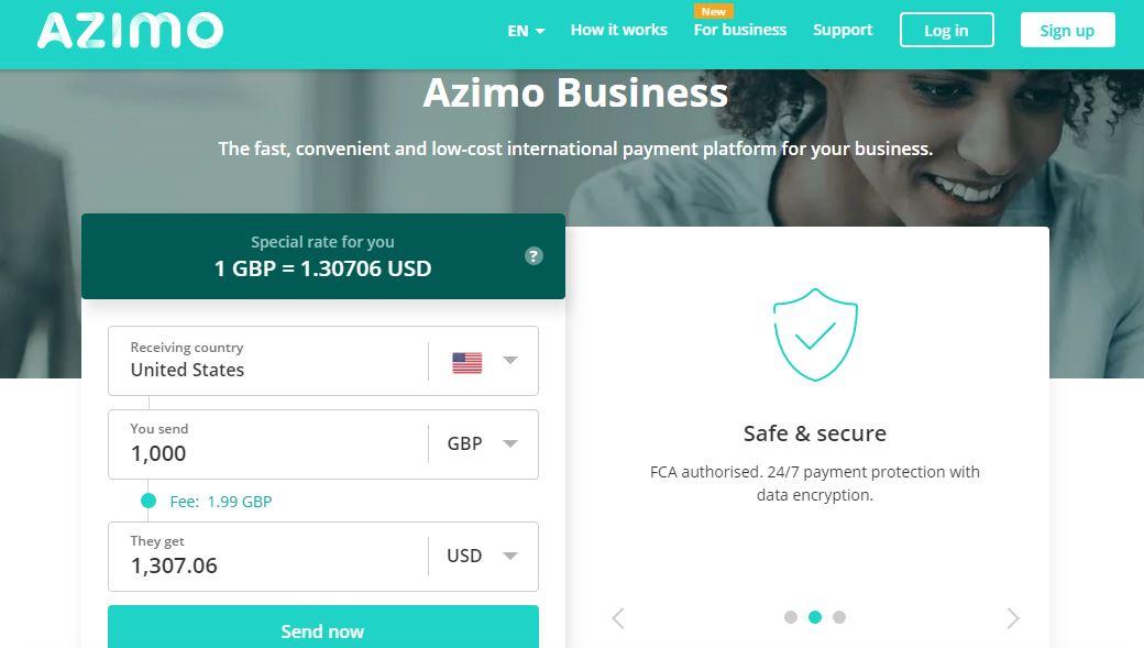 Azimo starts providing business money transfer service