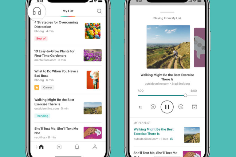 Pocket's latest updates allow listening articles