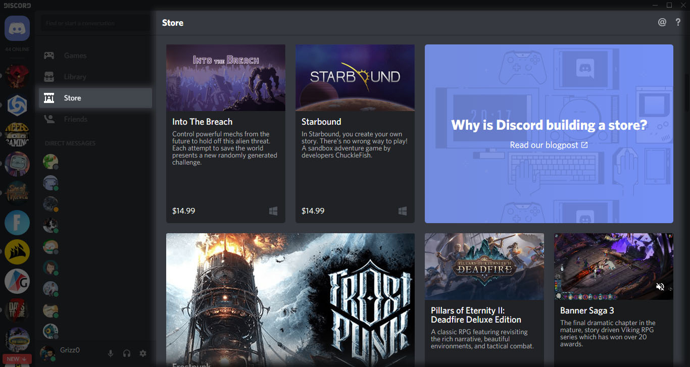 Discord game store to offer 90% revenue share to developers