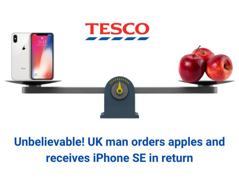 Unbelievable! UK man gets iPhone on ordering apples