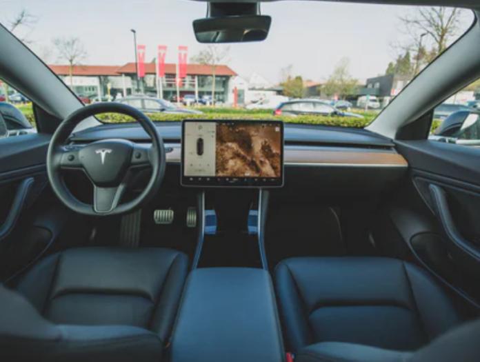 Tesla Car survived tornado
