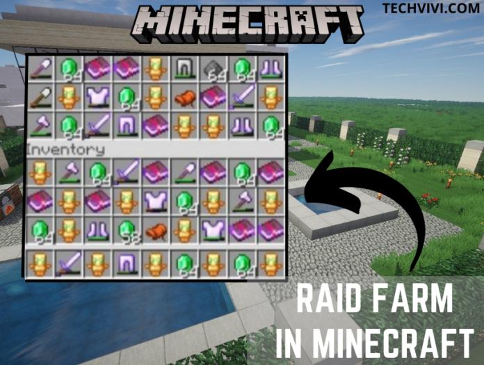raid farm in Minecraft